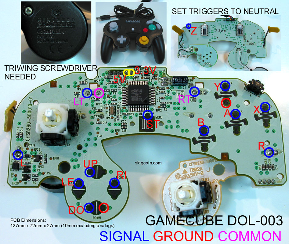 gc_diagram1 joystick controller pcb and wiring sega genesis controller wire diagram at gsmportal.co