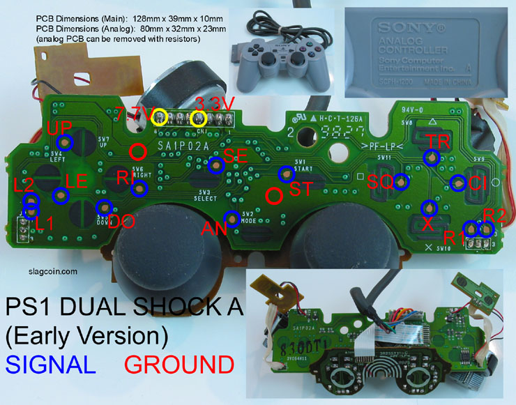 ps1_diagram8 joystick controller pcb and wiring gamecube controller wiring diagram at bayanpartner.co