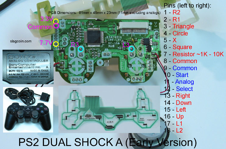 ps2_diagram1 ps2 controller wiring diagram dreamcast controller usb wiring PS2 to USB Conversion at bakdesigns.co