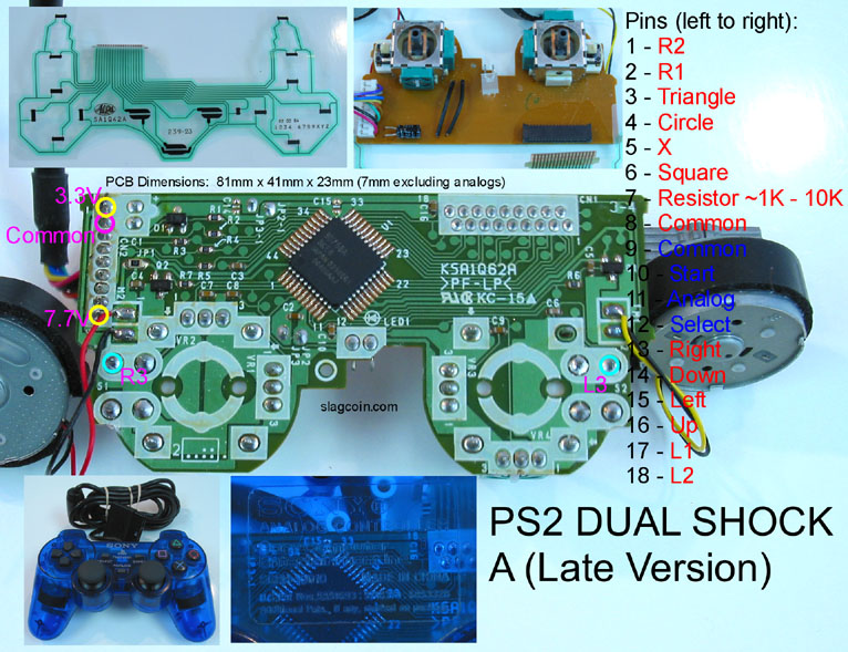 7800 playstation 2 controller adapter page 2 atari  ps2 controller wiring  diagram