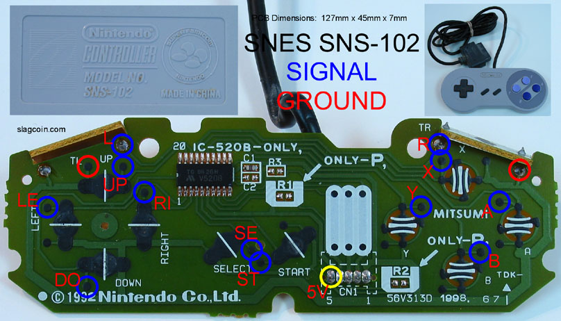 snes_diagram1 acouple snes pcb questions shoryuken super nintendo controller wiring diagram at crackthecode.co