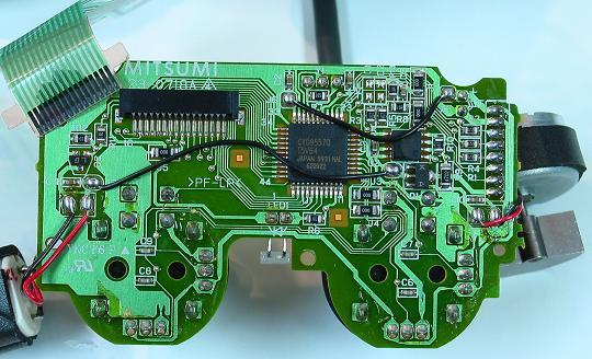 joystick controller pcb and wiring image ps2 pcb