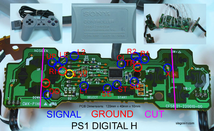 joystick controller pcb and wiring  ps1 joystick wiring diagram #4