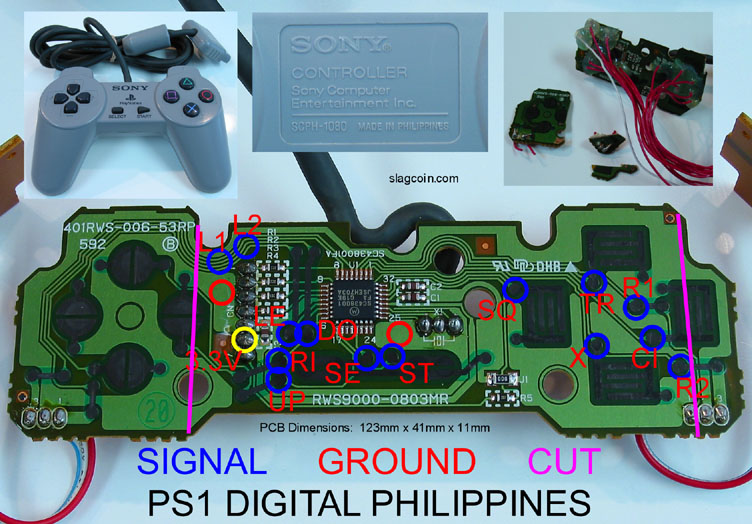 joystick controller pcb and wiring rh slagcoin com playstation 4 controller diagram ps3 controller diagram assembly