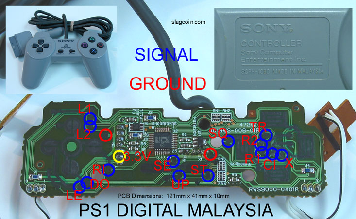 joystick controller pcb and wiring  ps1 joystick wiring diagram #5