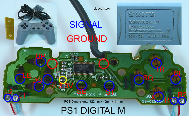 joystick controller pcb and wiring rh slagcoin com ps controller diagram playstation 1 controller diagram