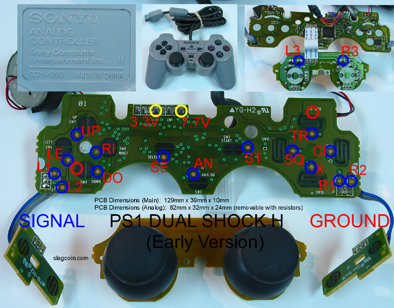joystick controller pcb and wiring  ps1 joystick wiring diagram #12