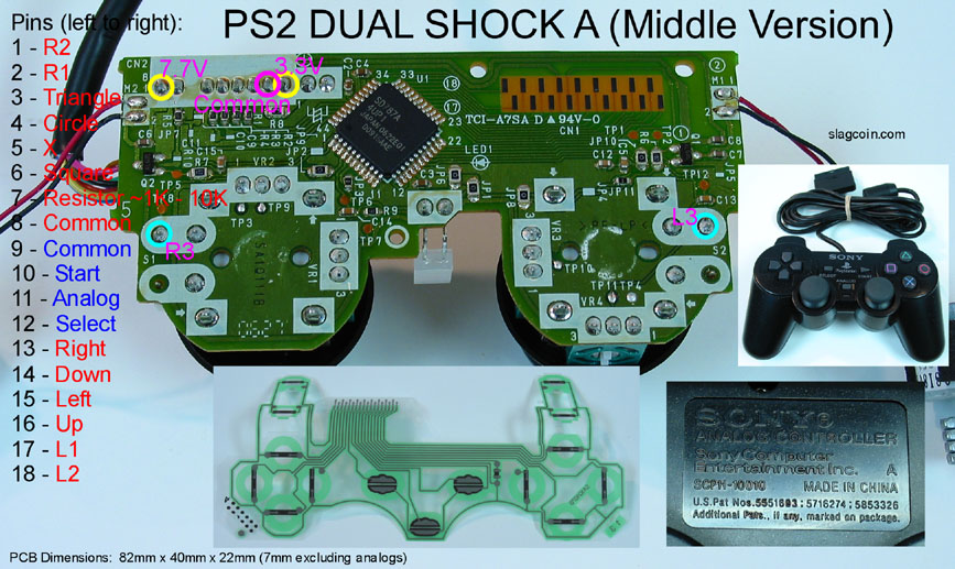 ... Playstation 2 Dual Shock A (Middle Version; Avoid) ...