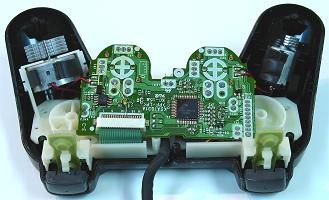 solderless_inside joystick controller pcb and wiring
